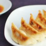 香蘭 餃子 サイドにタレ