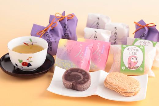 【風呂敷包み】 お茶と和菓子のギフト 茶三昧