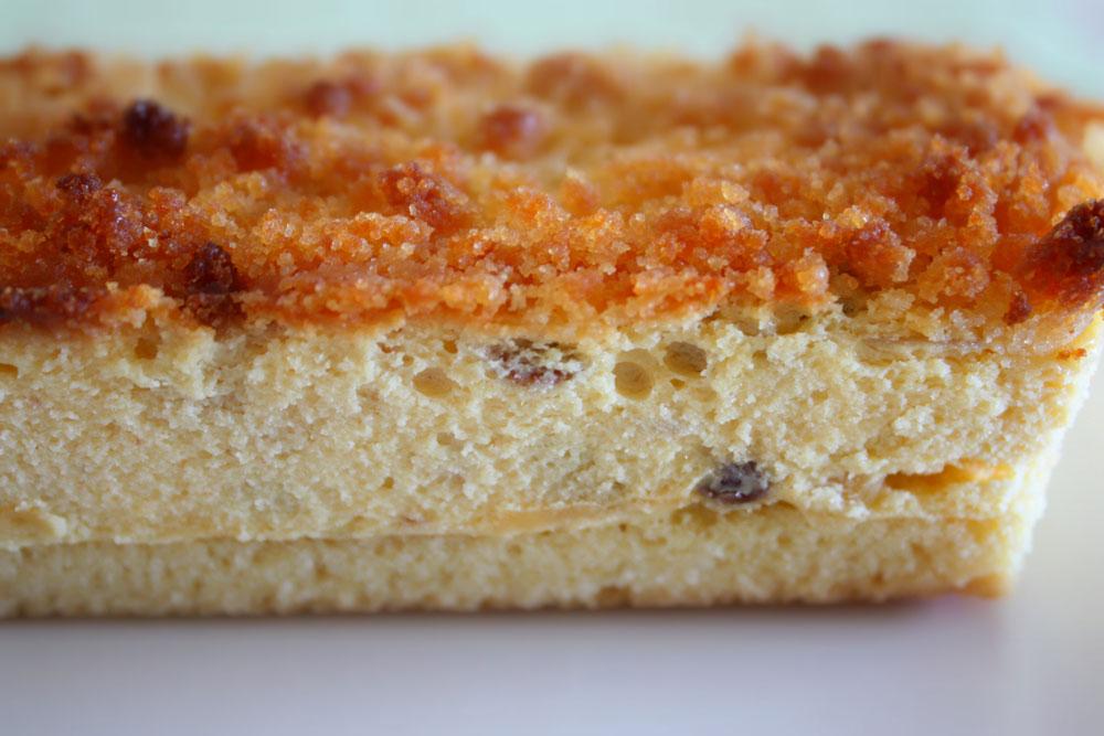プレミアムチーズケーキの断面