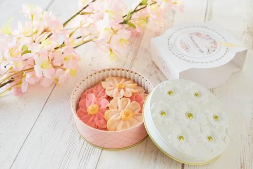 お花のぼうろ 3缶セット Flower Picnic Cafe -HAKODATE-