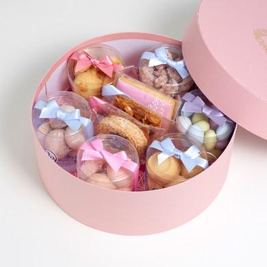 ギフトセット メモワール 丸箱Mサイズ 焼き菓子詰め合わせセット petit bisou(プティビズ)芦屋