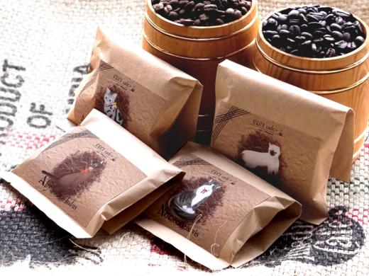 猫×コーヒー(cecicafe)ギフトセット50g袋4個入り
