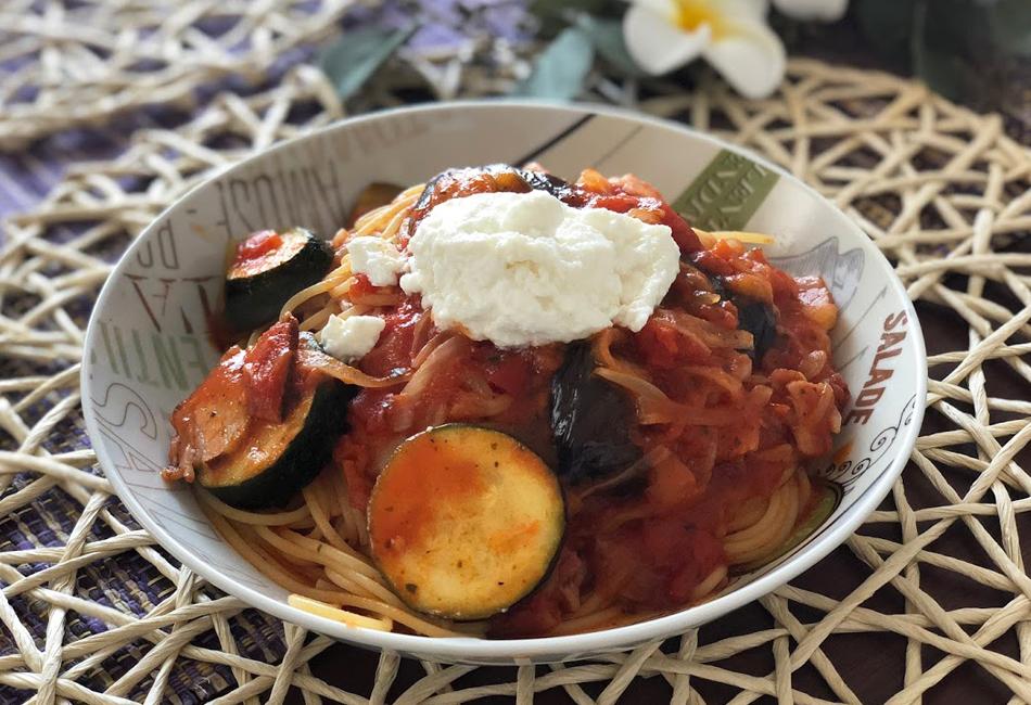 出来立てリコッタ トマトパスタ レシピ