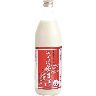 米と米麹だけ砂糖不使用 ノンアルコールの甘酒 造り酒屋の甘酒 900ml