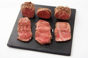 A5ランクのローストビーフ食べ比べお試しセット(前バラ肉・内もも肉・サーロイン)