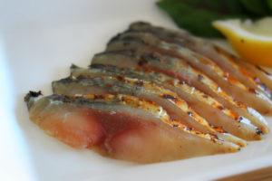 鯖陣 鯖のスモークの皿盛り