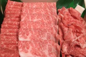 わりしたつき松阪牛上すき焼き3種食べ比べ