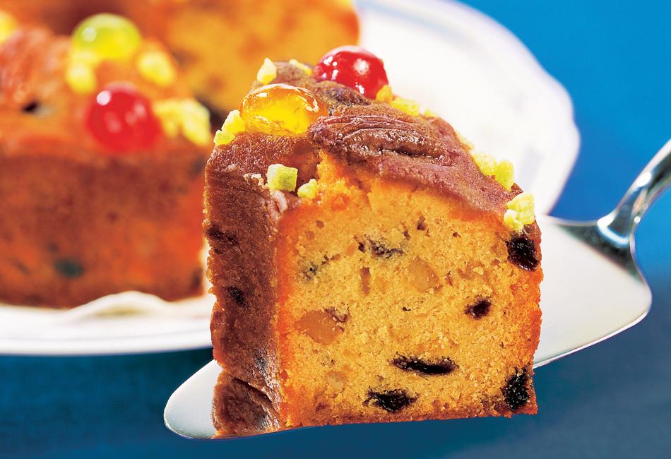 ミセスエリザベスマフィン缶入りフルーツケーキ カット