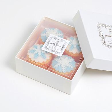 デコレーションカップケーキ 雪の結晶4個セット