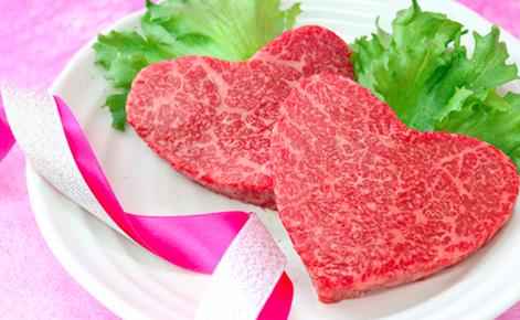 かわいいハート型の米沢牛赤身モモステーキ(A4・A5等級)