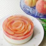 桃のレアチーズケーキ4号