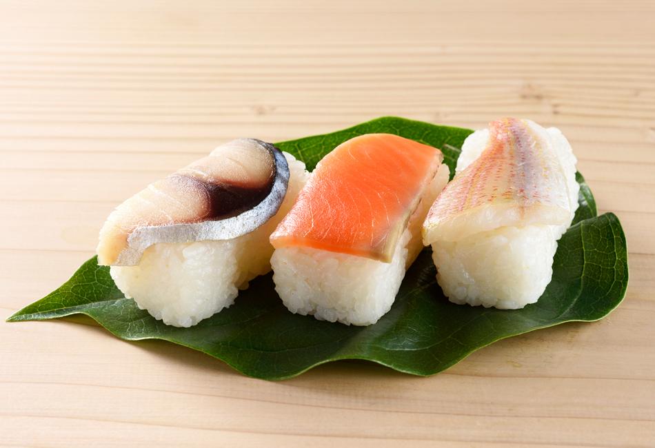 柿の葉寿司3種