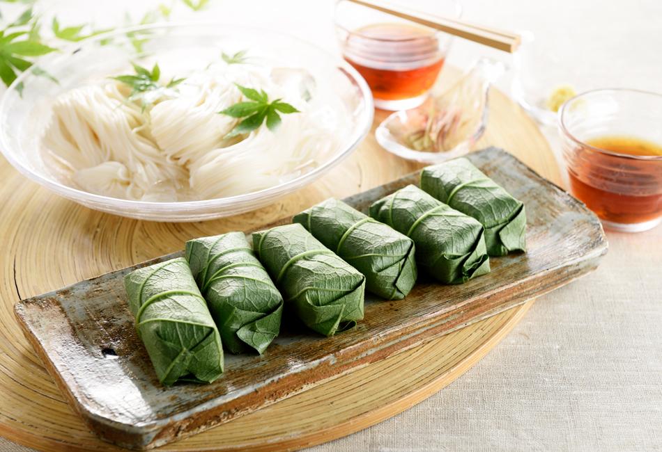 柿の葉寿司 素麺