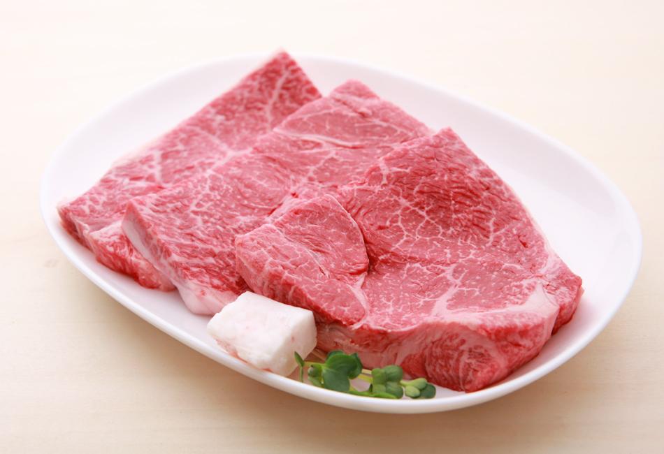 オリーブ牛  ランプステーキ 脂付き