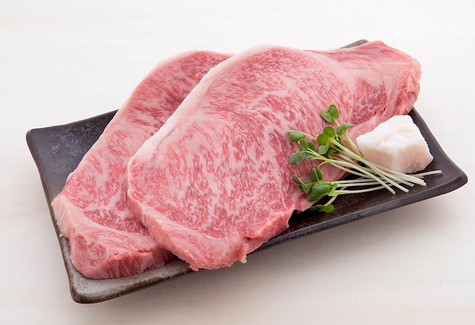 オリーブ牛 ロースステーキ 2枚