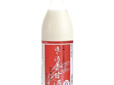 米と米麹だけ砂糖不使用ノンアルコールの甘酒 造り酒屋の甘酒 900ml