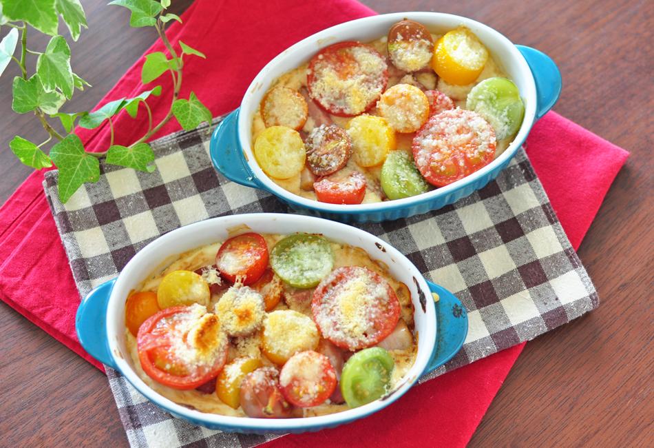 トマトの宝石箱 グラタン