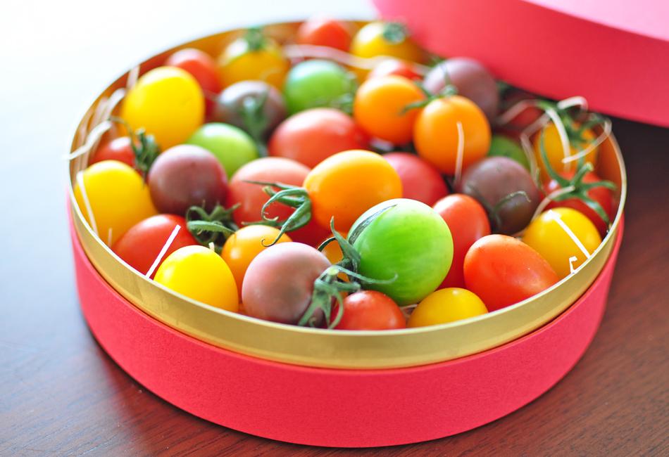 トマトの宝石箱 箱を開けたところ