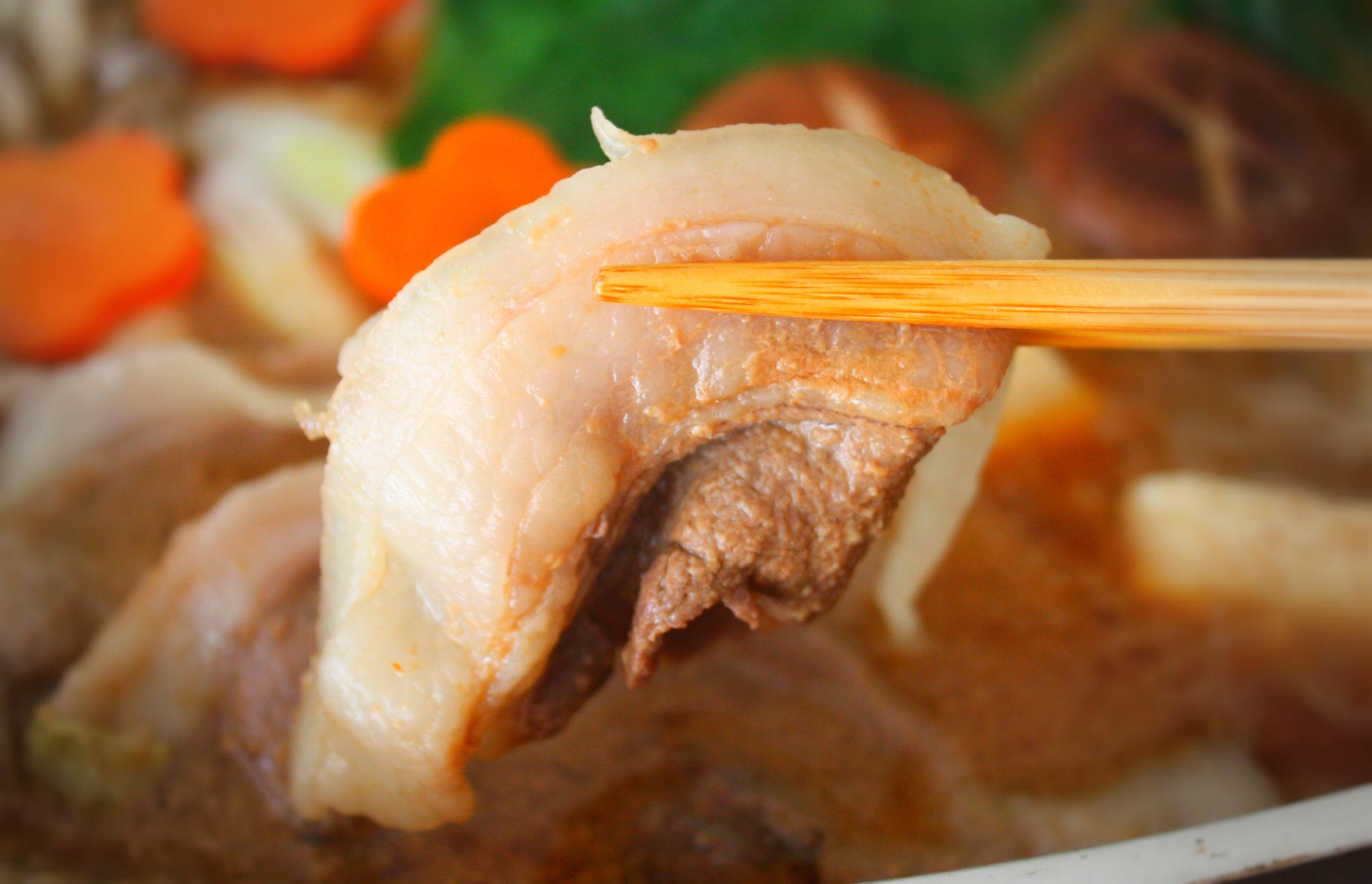 猪肉のキザキ/ぼたん鍋お試しセットの調理した様子
