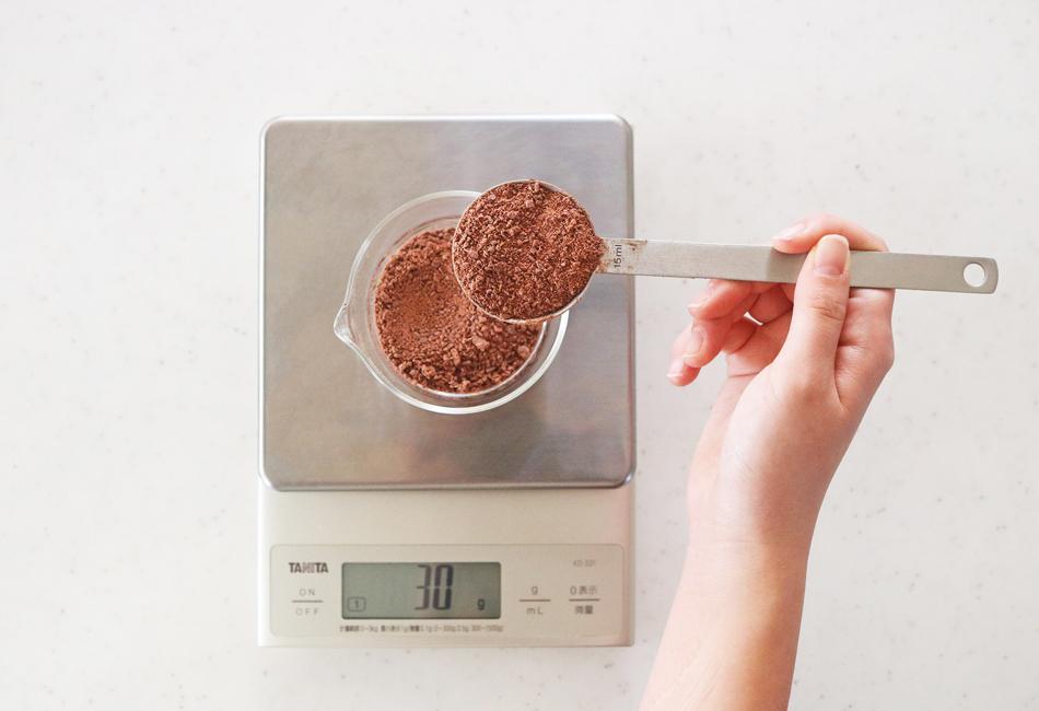 ホットチョコ 計量