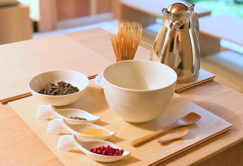 セゾン ド セツコ京都ショコラトリー 茶筅ショコラドリンク
