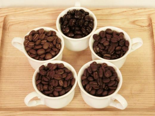 お試しセット 自家焙煎ブレンドコーヒー5種セット 50g×5