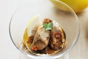牡蠣と広島レモンのアヒージョ 小瓶 オイスターキッチン マルイチ