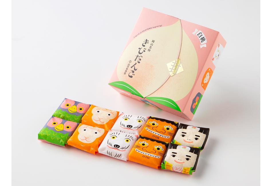 白桃きびだんご10個入 山方永寿堂 パッケージ