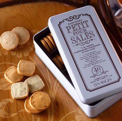 クッキー缶  おしゃれ・レトロ・お取り寄せ プティ・フール・サレ1缶