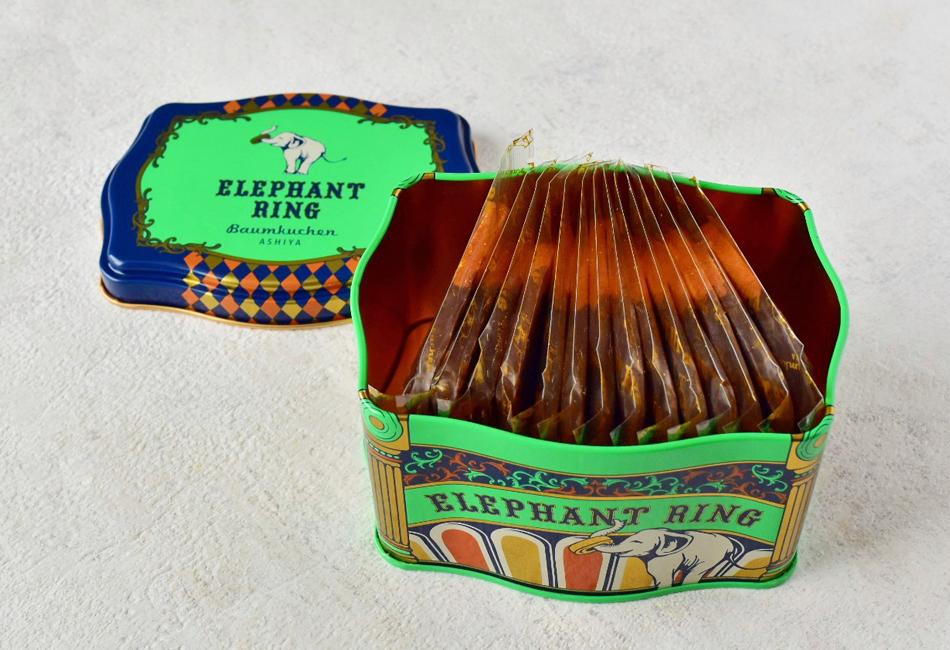 ショコラバウムラスク〈14枚入り〉 ELEPHANT RING 缶の中身