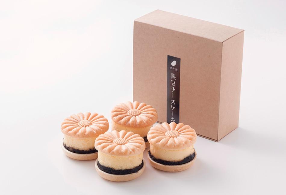 黒豆チーズケーキ 4個入 京都丹後 御菓子司あん セット内容