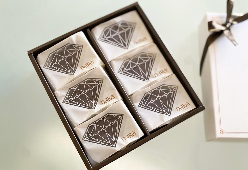 ダイヤモンドフォンダンショコラ 6個入 デルレイ パッケージ