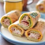 ハーベスター八雲 国産ハーブ鶏のスモークと彩り野菜のラップサンド