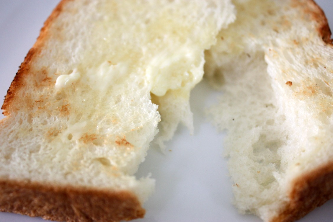 泉北堂 「極(きわみ)」食パンのもっちりとした様子