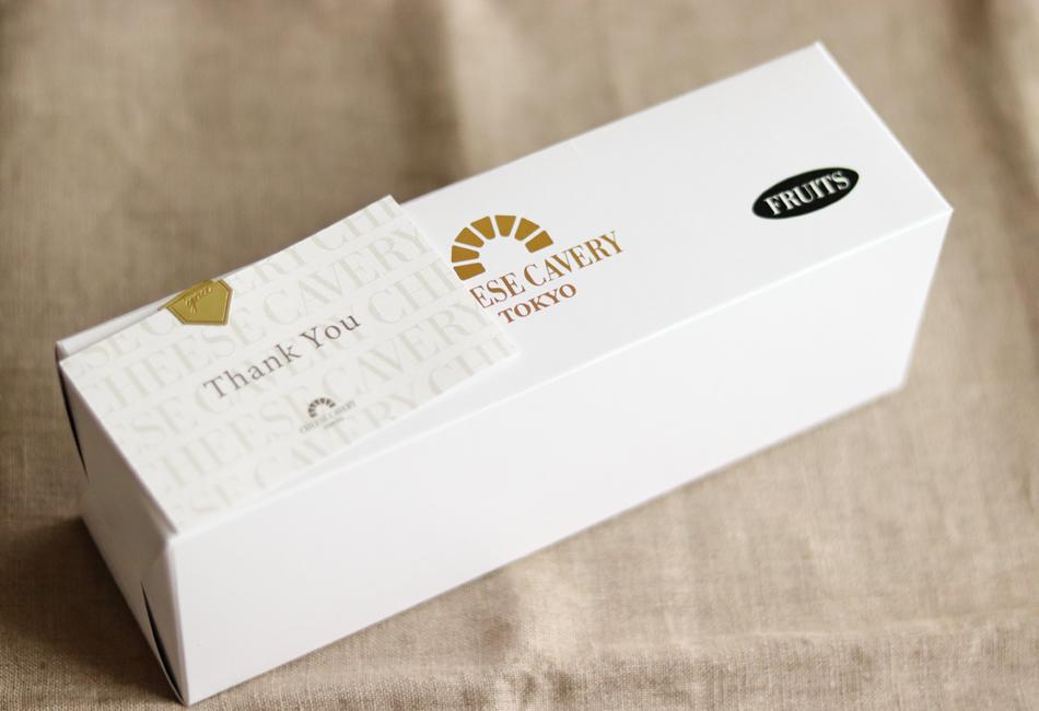 チーズケーキブリック(フルーツ/ディープテイスト) CHEESE CAVERY TOKYO パッケージ