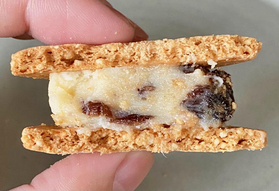 米粉のバターサンド 6個入 高山堂 ラムレーズン 断面