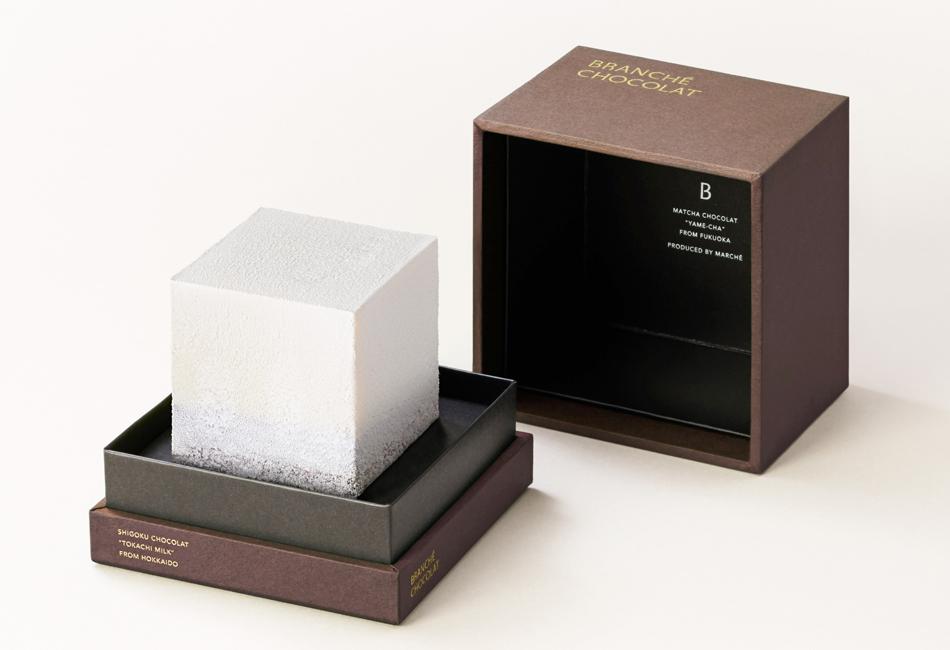 至極のカレ・オ・ショコラ GIFT BOX  BRANCHÉ CHOCOLAT パッケージを開けたところ