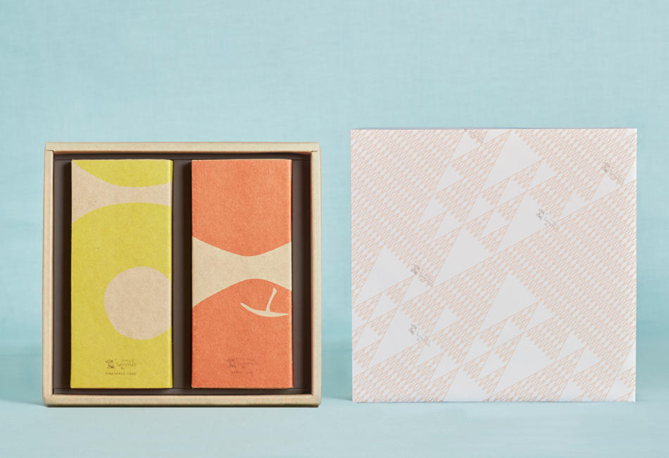 ケーキセット(パイナップル5個+りんご5個)包装紙付き 微熱山丘 SunnyHills パッケージデザイン
