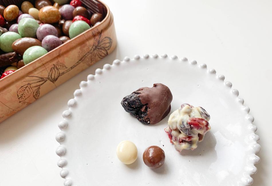 フルーツディップ&チョコレートボールブラウン缶 カカオマーケット フルーツディップ