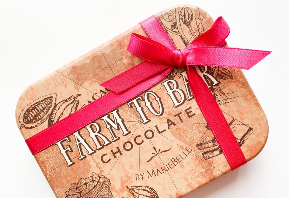 フルーツディップ&チョコレートボールブラウン缶 カカオマーケット パッケージ