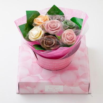 バラのショコラブーケ 7本(BOXあり)