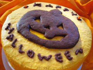 ハロウィンケーキ(かぼちゃのシフォンケーキ)