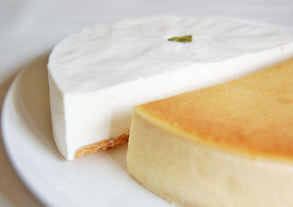 レアチーズ 断面