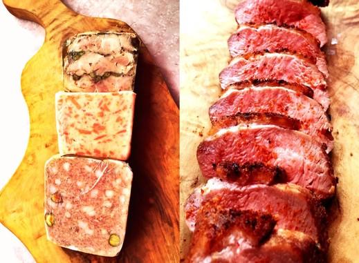 定番テリーヌ3種と鴨肉ローストのセット