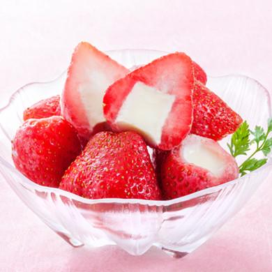 春摘み苺アイスクリーム